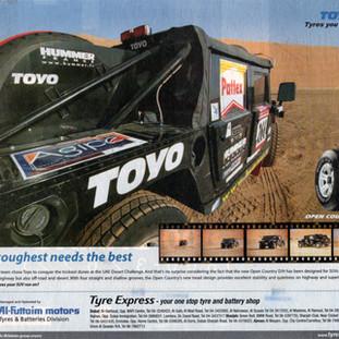 Toyo tyres advertisement