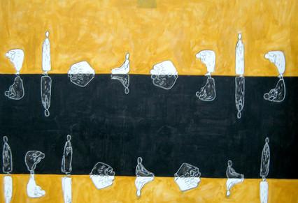 Amadou Kan-si Essentiel Reflex Acrylic, oil and pastel on canvas 120 x 160 cm 2007