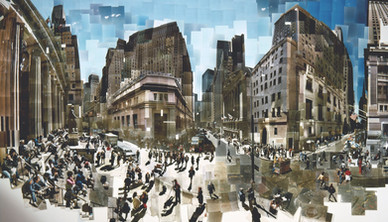 Wall Street photomosaic Claude Samton