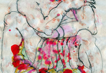 Mehdi Ahmadi From Horses and devil series Ink on paper 20 x 30 cm