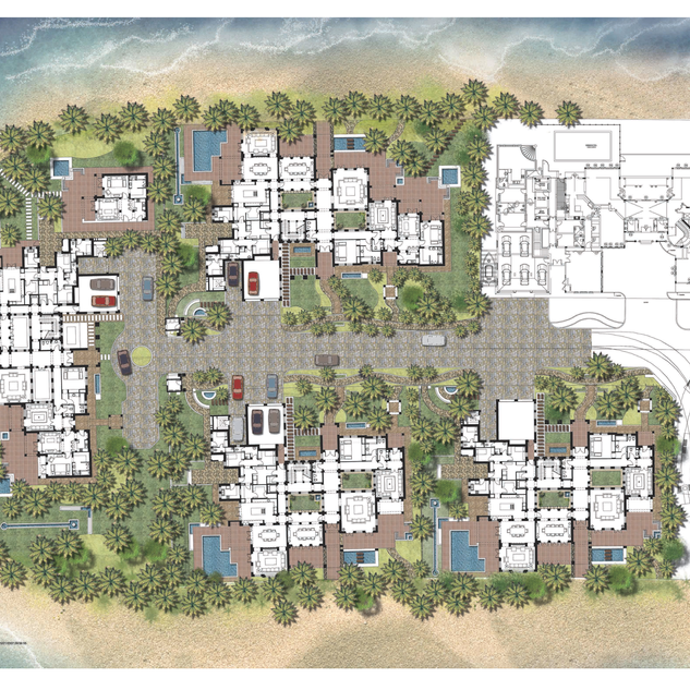 Site plan of Palm Jumeirah signature villas