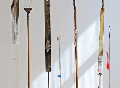 Shaqayeq Arabi Totems Found objects & assemblages 2014