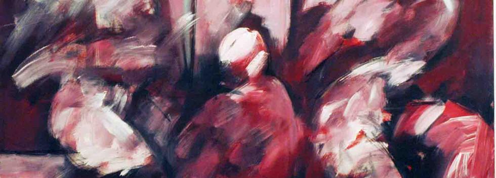 Abdul Raheem Salem Me and She Acrylic on canvas 200 x 200 cm 2006