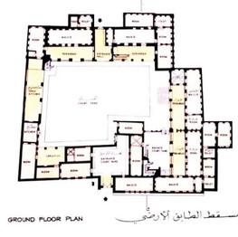 Ground floor plan of Sheikh Saeed House