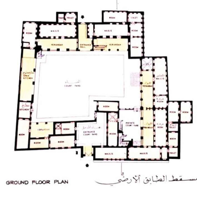 Ground floor plan of Sheikh Saeed House
