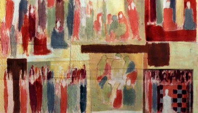 Aneh Mohamad Tatari Curtain Mix media on fabric 275 x 190 cm