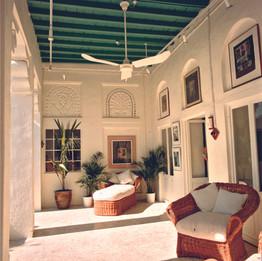 Veranda of the courtyard of Majlis Art Gallery