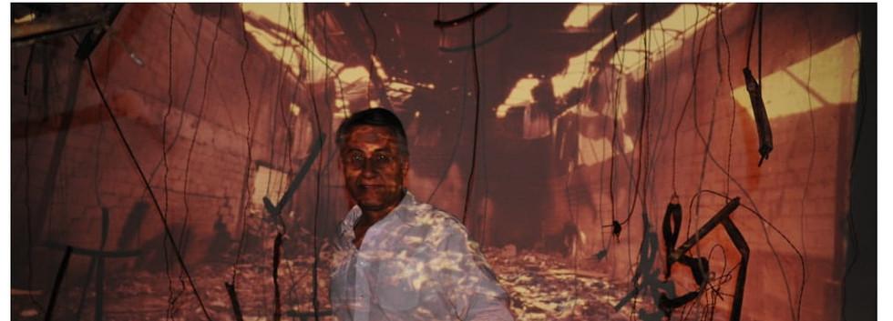 Dariush Zandi with installations