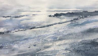 Blue Storm Resides Watercolor 76.2 x 106.6 cm