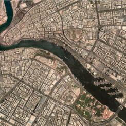 Aerial photo of Dubai Creek