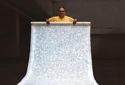 Ali Razavi Marker on canvas