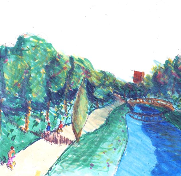 Sketch of downtown Beckett park