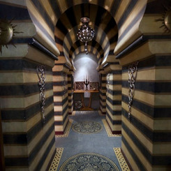 Corridors inspired by Arabian design