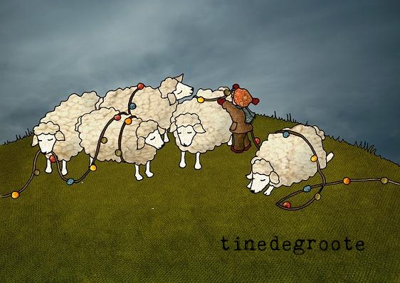 kerst schapen