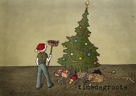 kerst borstel