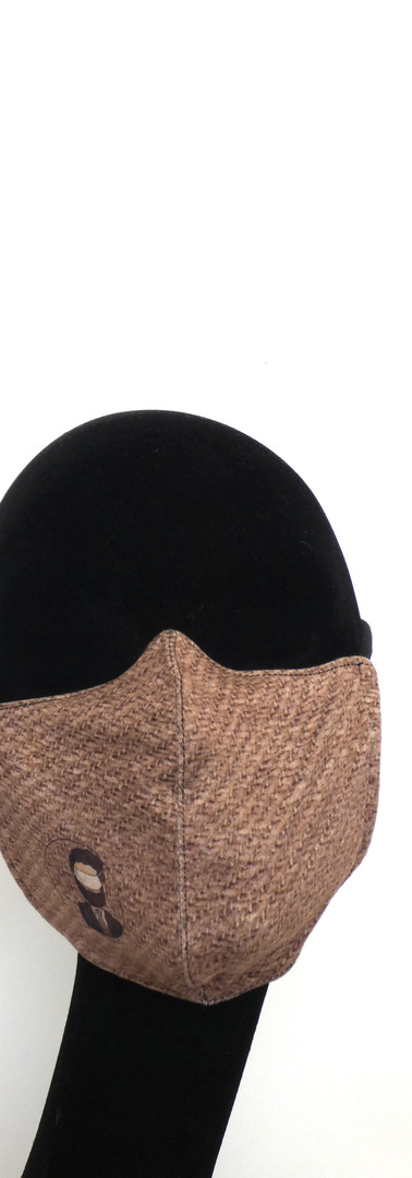 portret fout gedragen mondmasker