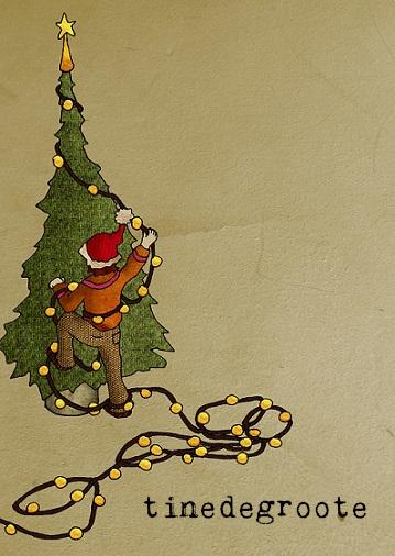 kerst lampenknoop