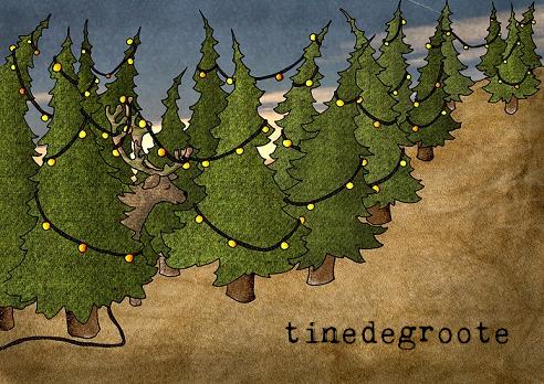 kerst rendierbomen