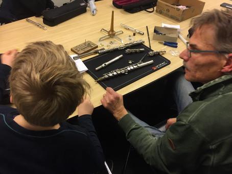 Februari 2017: Voor mijn jongste fluitleerlingen organiseerde ik een Fluitreparatie-workshop.