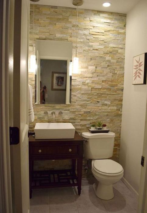 small half bath updated design