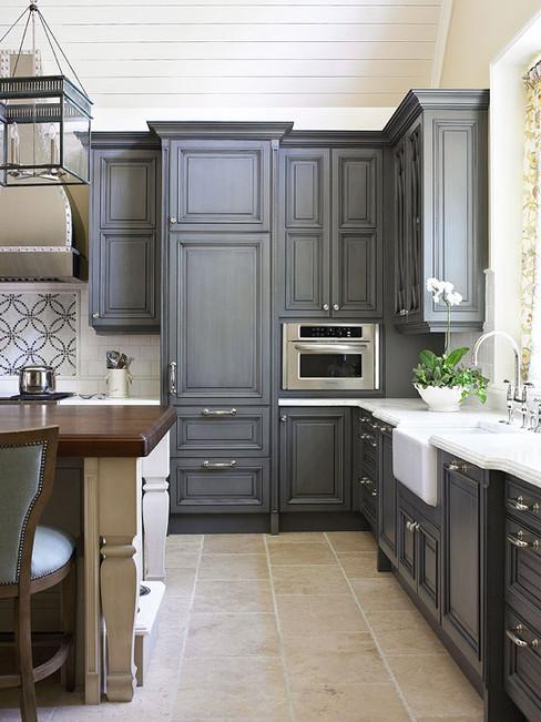 Kitchen Upgrade Navy Blue Cabinet Custom Kitchen