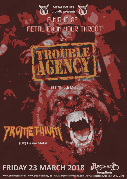 A NIGHT OF METAL DOWN YOUR THROAT ON 23 MARCH