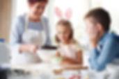 cozinhando com os filhos