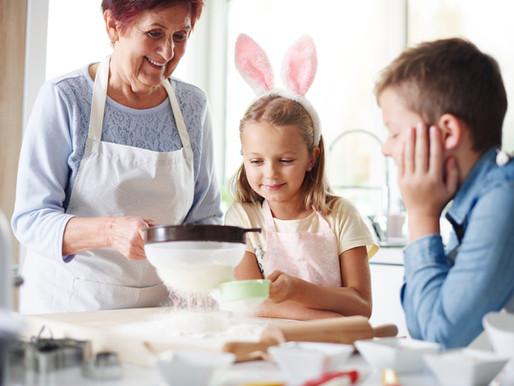 Teaching children how to eat.