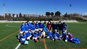 Nuestro Infantil y Alevín Femenino experimentan en el campo de fútbol 11