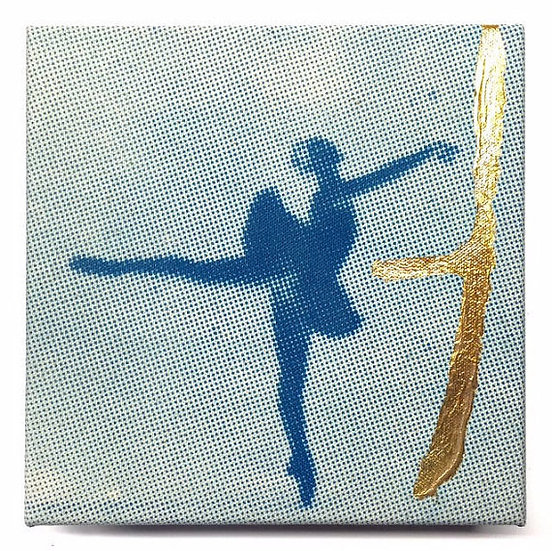 Ballerina with gold leaf