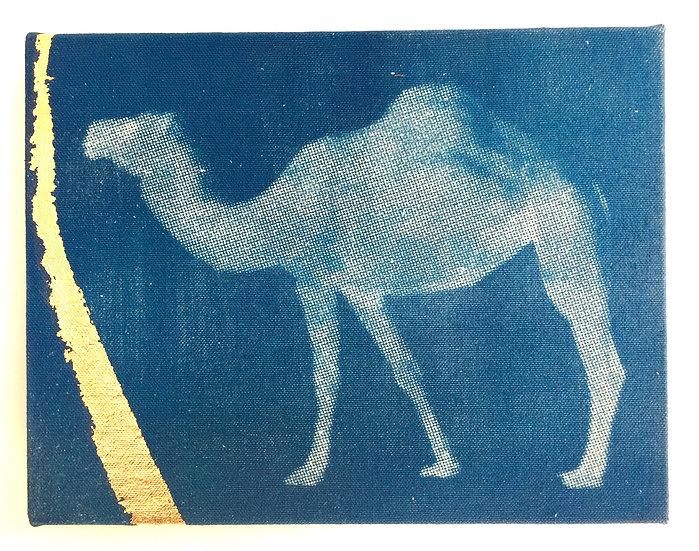 Arabian Camel with Gold Leaf