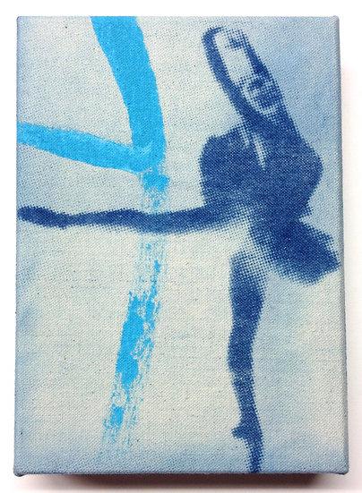 Ballerina Art with turquoise