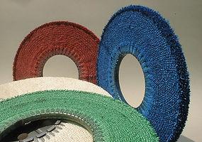 dischi trapuntati sisal per pulitura metalli
