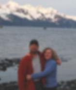 Bette and Paul near Resurrection Bay in Alaska
