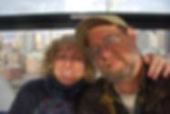 Bette ad Paul on he Ferris Wheel in Seattle