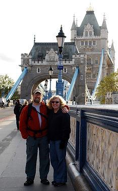 Bette andPaul at the tower Bridge n London