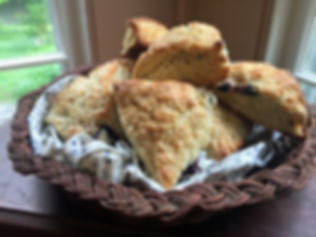 We serve our popular homemade scones every morning.