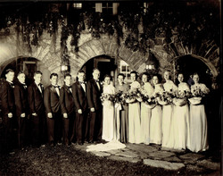 A wedding out front