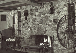 The first floor fireplace...