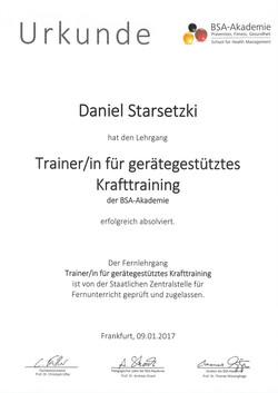 Trainer/in für geräte. Kraftraining