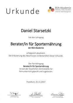 Berater/in für Sporternährung