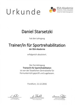 Trainer/in für Sportrehabilitation