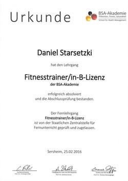 Fitnesstrainer/in B-Lizenz