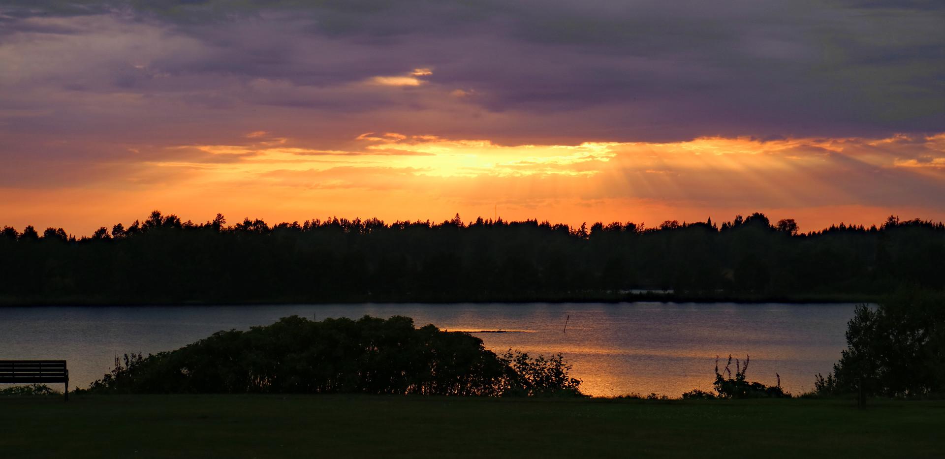 Sonnenuntergang Sandhem