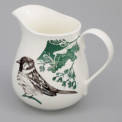 Botanical Birds -  1 pint Jug