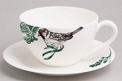 Botanical Birds - Metro Breakfast Cup & Saucer