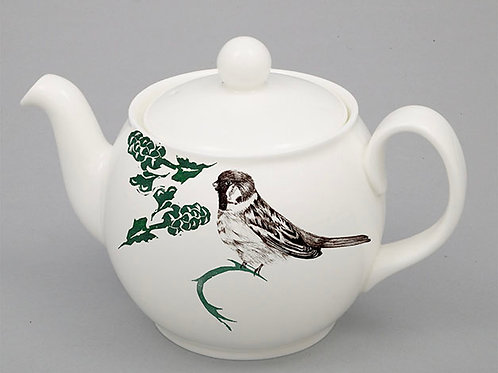 Botanical Birds - 6 cup tea pot