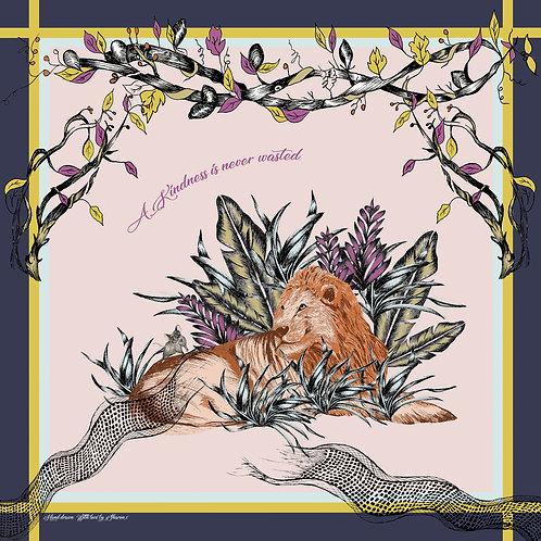 Lion & Mouse Kindness Square scarf