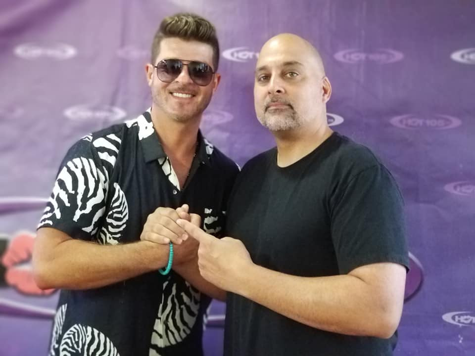 Robin Thicke with Rich Babalu