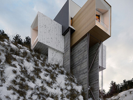 House on the cliff, closer to the clouds